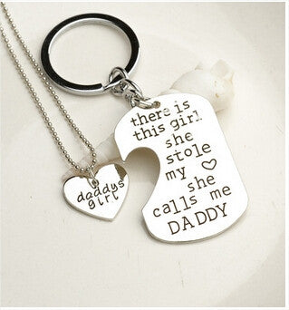 Love Pendant Necklace / Key Chain Set Free + Shipping