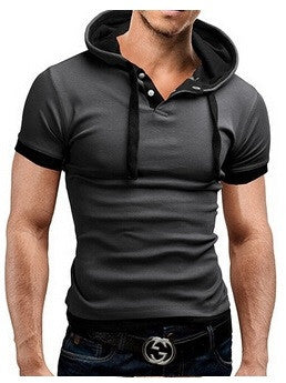 Slim Hooded Short Sleeved T-Shirt