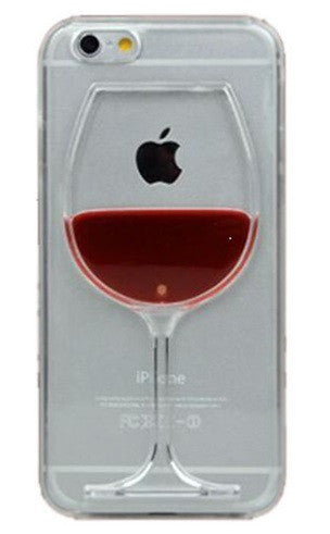 Red Wine Liquid Transparent iPhone Case Free + Shipping