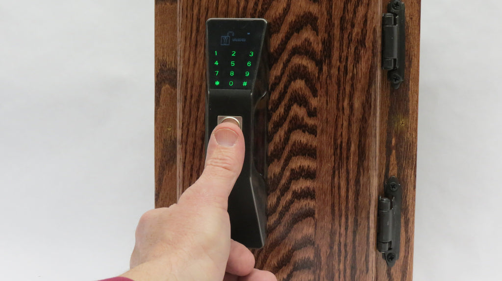 KR-S80E Fingerprint plus RFID cabinet lock.