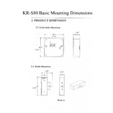 KR-S80A-BT   RFID + Bluetooth Cabinet Lock - Gage Safe Products
