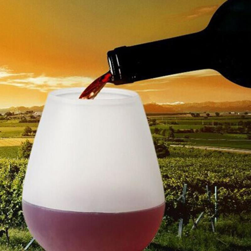 Silicone Wine or Beer Glass