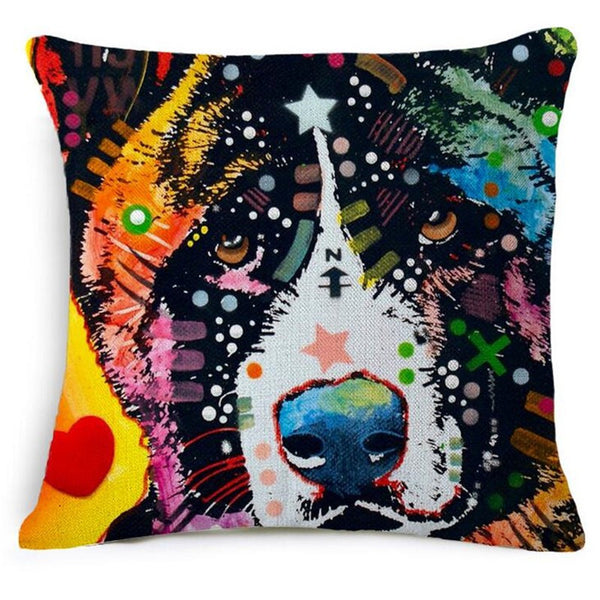 Abstract Dog Pillow Cases FREE plus Shipping & Handling