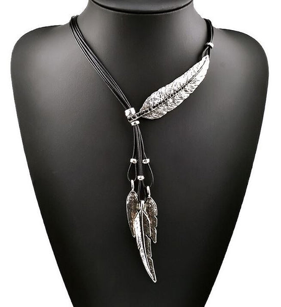 Feather Pendant Necklaces
