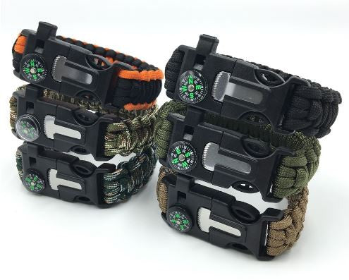 Paracord Outdoor Survival Bracelet FREE-Just pay Shipping