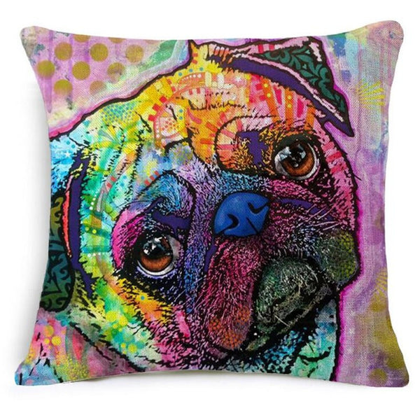 Abstract Dog Pillow Cases