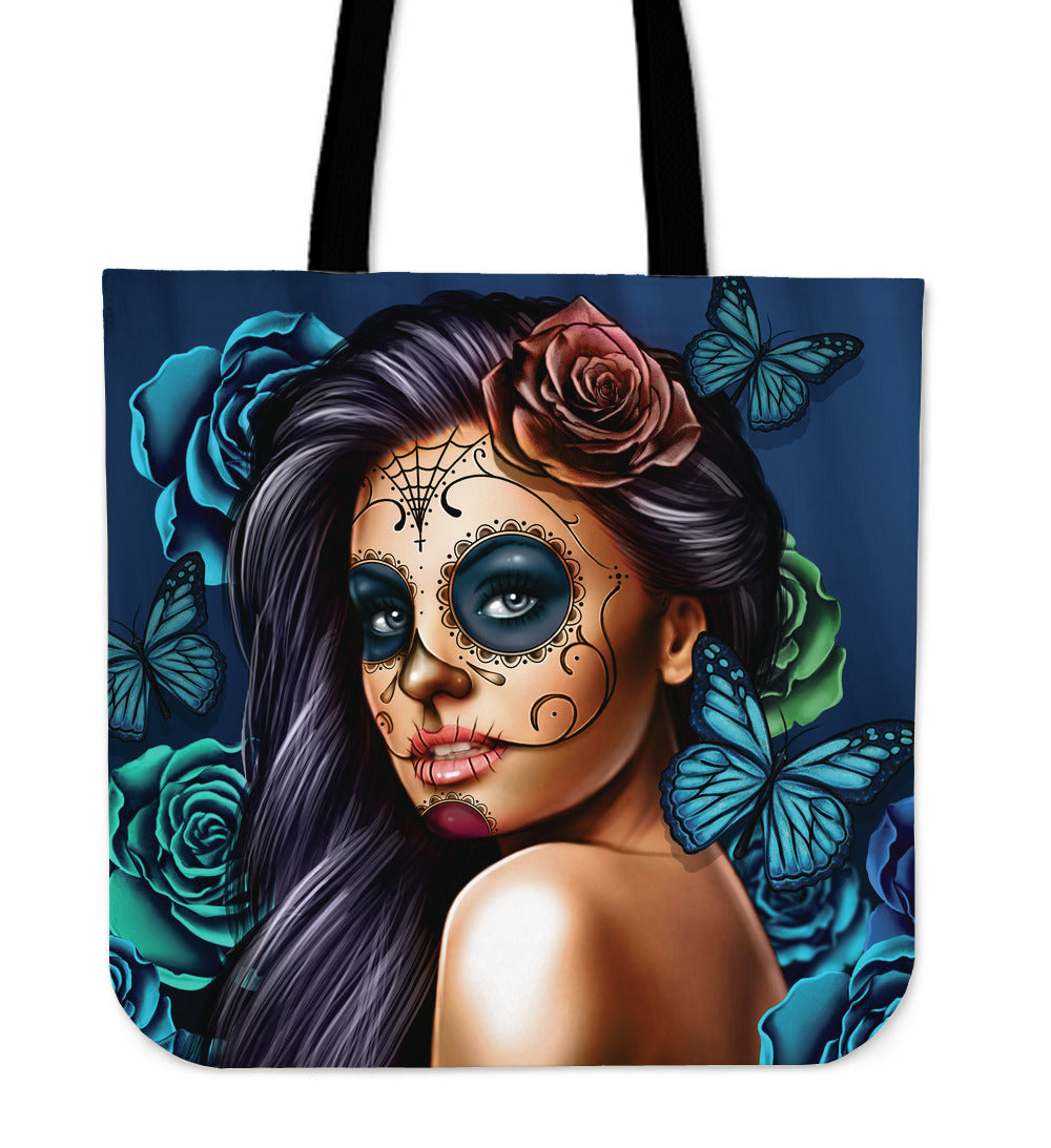 Tattoo Girl Tote Bag