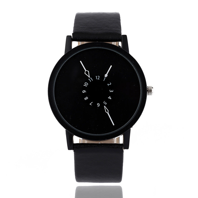 Reverse Dial Quartz Wristwatch