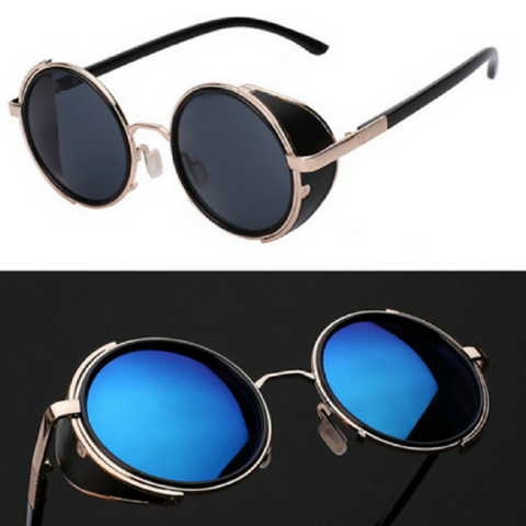 Classic Steampunk Side Shield Sunglasses