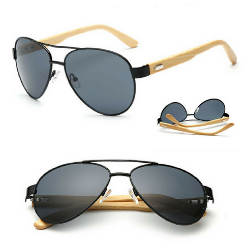 Aviator Wooden Sunglasses