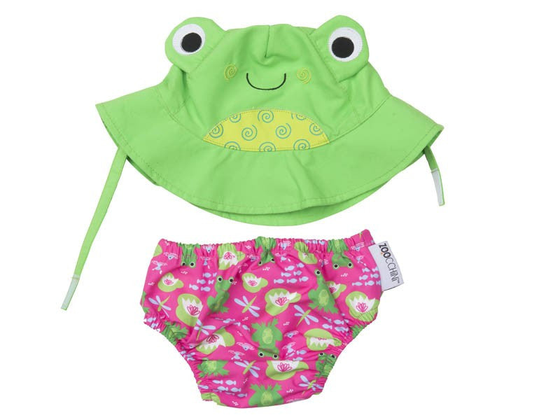 Zoocchini / Swim Diaper w/ Hat Set / Frog