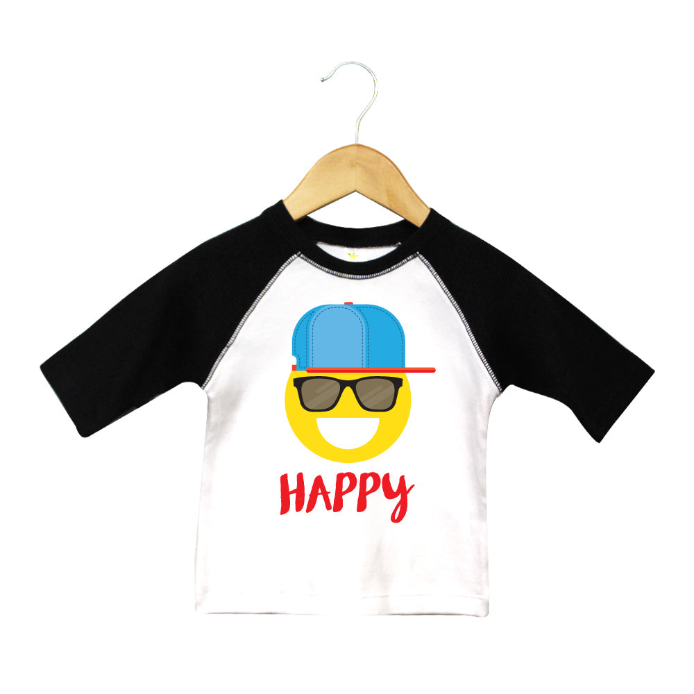 T Shirts & Onesies by GGG / HAPPY/ Raglan T