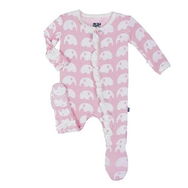 Kickee Pants Footie / Lotus Elephant