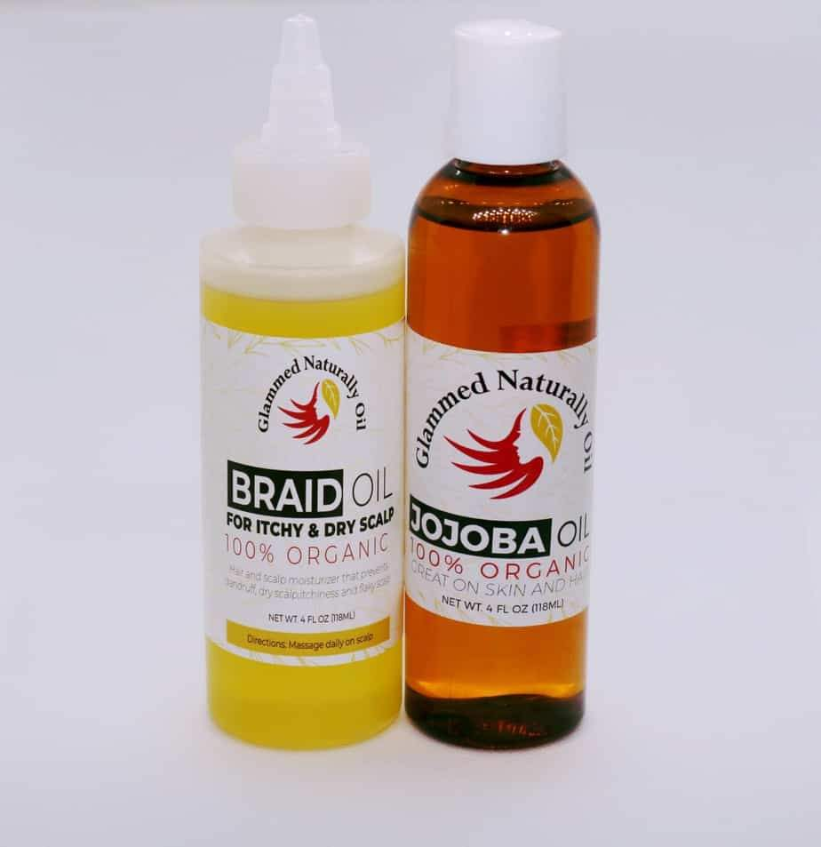 Glammed Naturally Braid oil Hair & Jojoba oil Growth Bundles