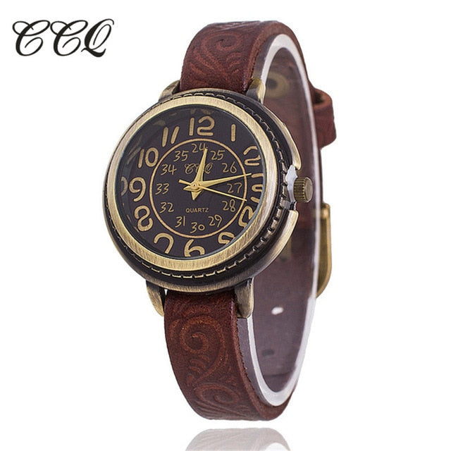 Vintage Cow Leather Watch High Quality Antique Women Wrist Watch Casual Quartz Watch Relogio Feminino BW1353 - A Sharper-Image