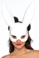 Black Bunny Adult Party Mask