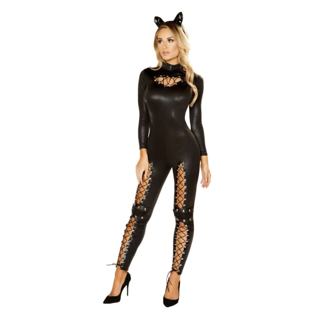 2pc Cat Prowler Costume Set - Small / Black - Costumes