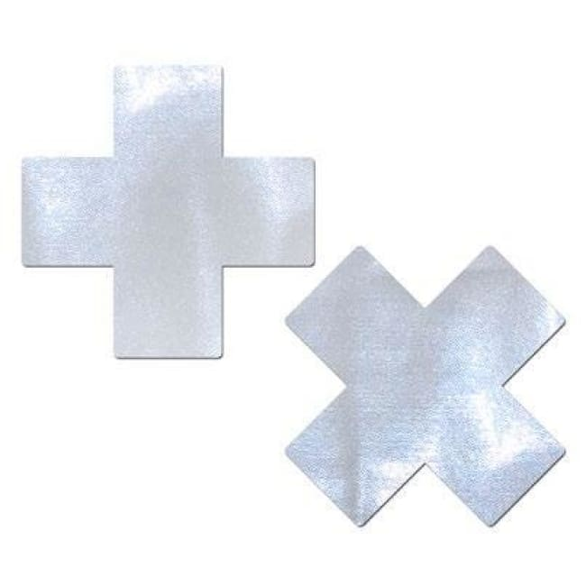 2pc Criss Cross Pasties - White / One Size - Accessories