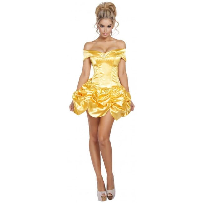 2pc Foxy Fairytale Cutie - Gold / Small - Costumes