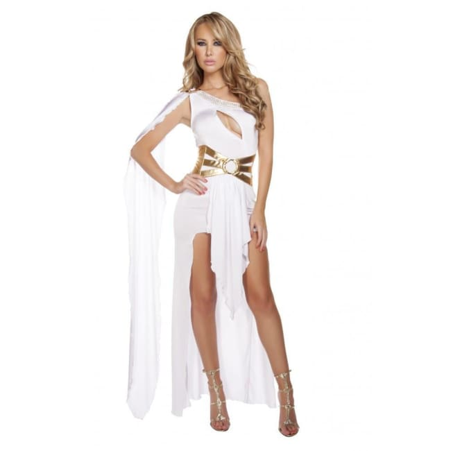 2pc Sexy Zeus Costume Set - White/Gold / S/M - Costume