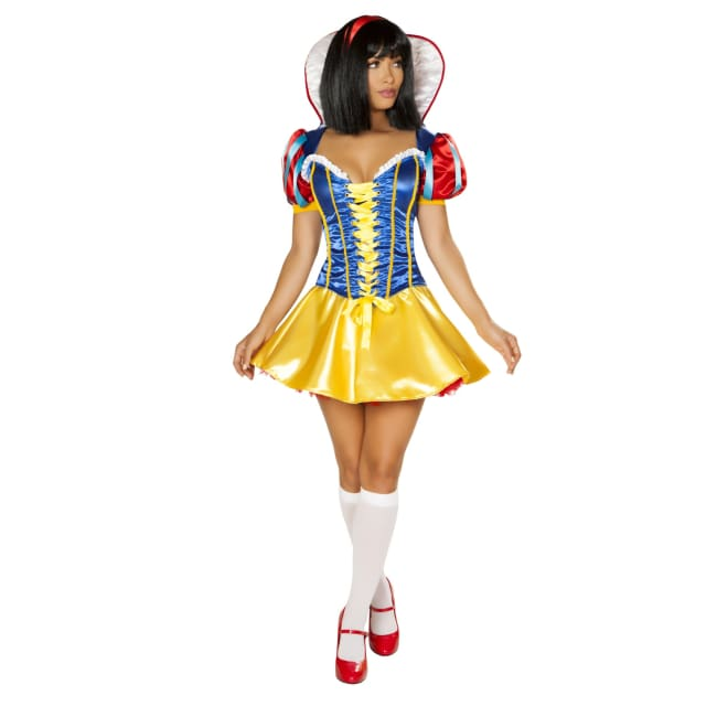 2pc Snow White Costume Set - Small / Blue/Red/Yellow - Costumes