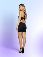 Women's Mini Dress with Circular Cutout Detail