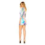 Women's Tear Drop Sequin Dress with Three Quarter Length Sleeves