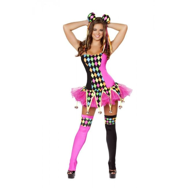 3pc Lusty Laughter Costume - As Shown / S/M - Costumes