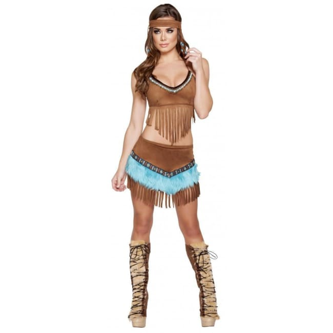 3pc Pocahontas Costume Set - As Shown / Small - Costumes