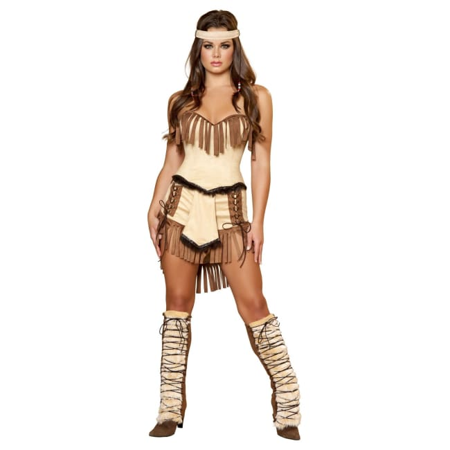 3pc Pocahontas Costume Set - Brown/Tan / Small - Costume