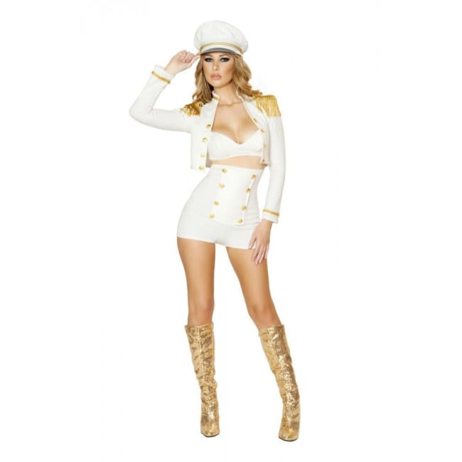3pc Sultry Sailor Babe Costume - As Shown / Small - Costumes