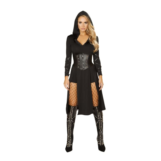 3pc The Queens Assassin Costume Set - Small / Black - Costumes