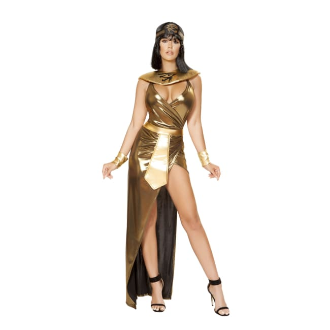 4pc Cleopatra of the Nile Costume Set - Small / Gold - Costumes
