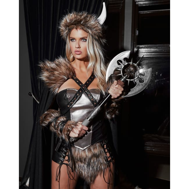 4pc Viking Warrior Costume Set - Costumes