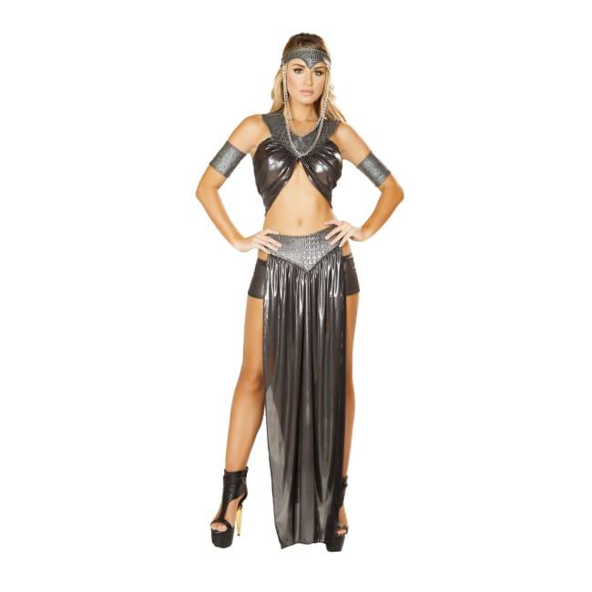5pc Dragon Princess Costume Set - Small / Gunmetal - Costumes