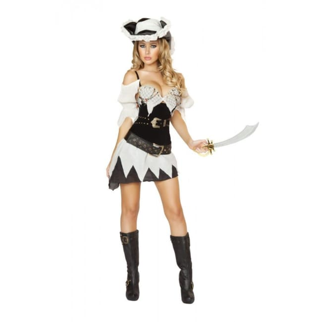 5pc Sexy Shipwrecked Sailor Costume - As Shown / Large - Costumes