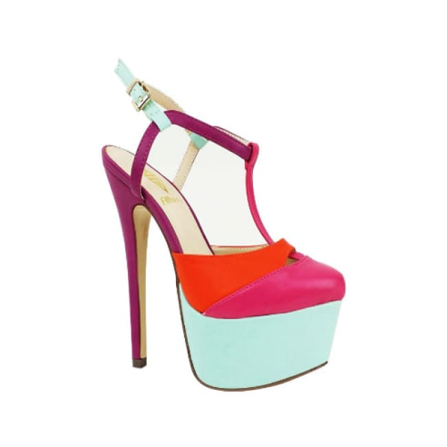 Barbie Color Block High Heel Pumps - 5.5 / Pink - Heels
