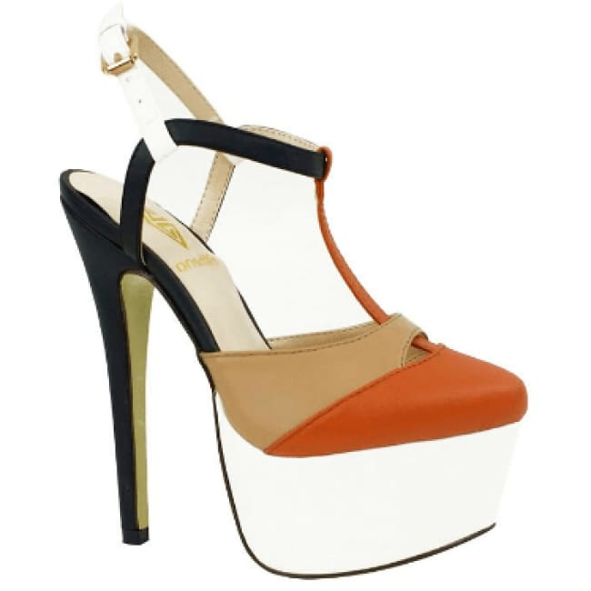 Barbie Color Block High Heel Pumps - 6 / Brown - Heels