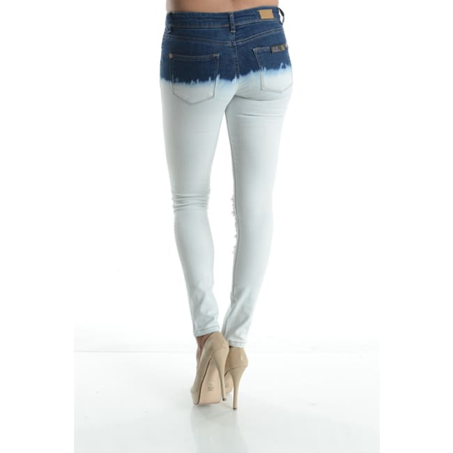 Bleached Ripped Skinny Denim Jeans - Bottoms