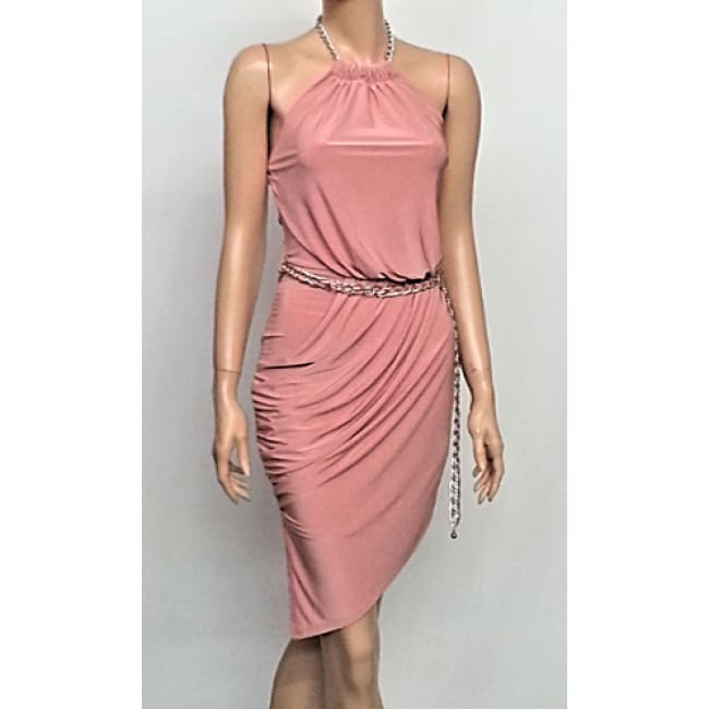 Chain Halter Dress - Dresses