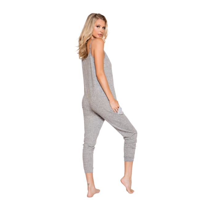 Cozy & Comfy Pajama Jumpsuit with Pocket Details - lingerie