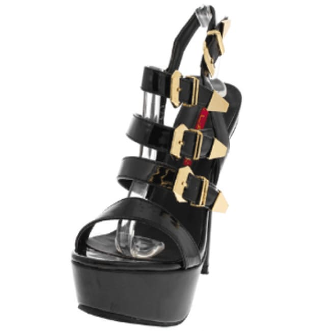 Dainty 24 Black Platform Sandal - 8.5 / Black - Shoes