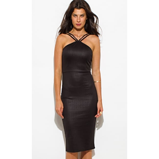 Diamond Caged Dress - SMALL / Black - Dresses
