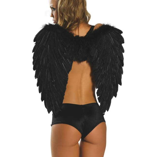 Feather Angel Wings for Costumes - Black / One Size - Costumes