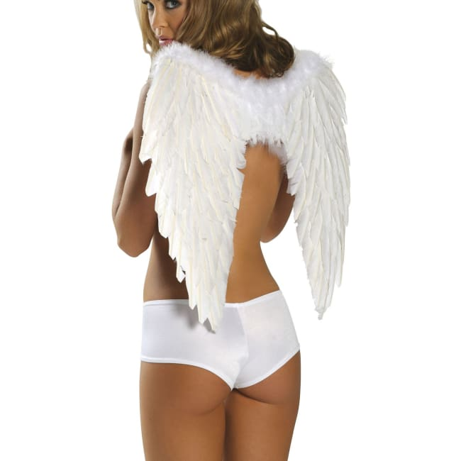 Feather Angel Wings for Costumes - White / One Size - Costumes