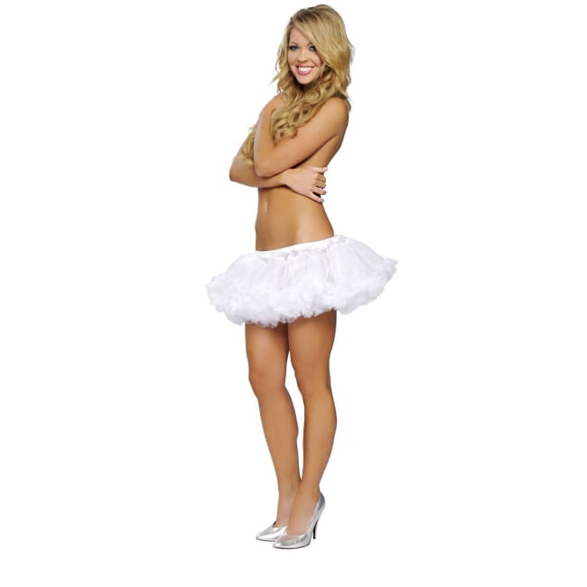 Fluffy Petticoat Skirt - White / One Size - Costume