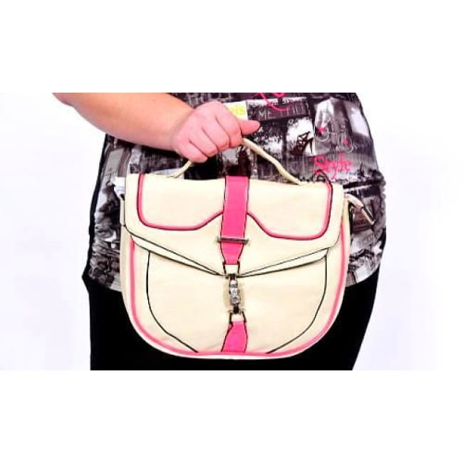 Harmony Neon Trim Satchel Bag - Bags
