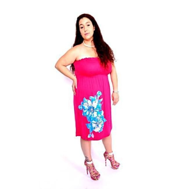 Hibiscus Tube Dress - Dresses