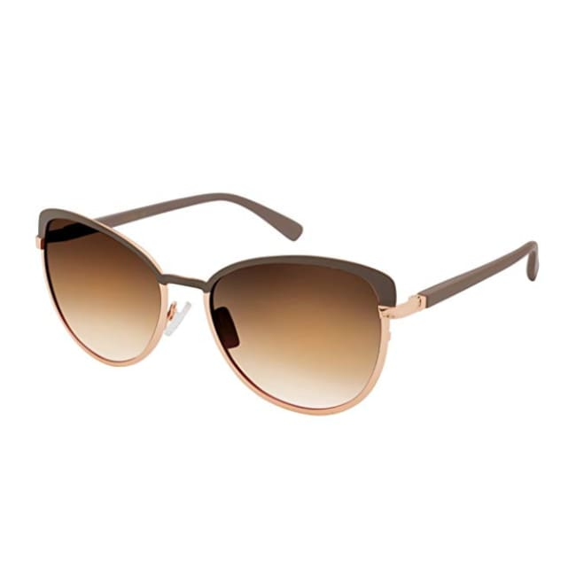 Jessica Simpson Womens J5316 Nd Non-Polarized Iridium Cateye Sunglasses Nude 65 mm - Taupe - Glasses