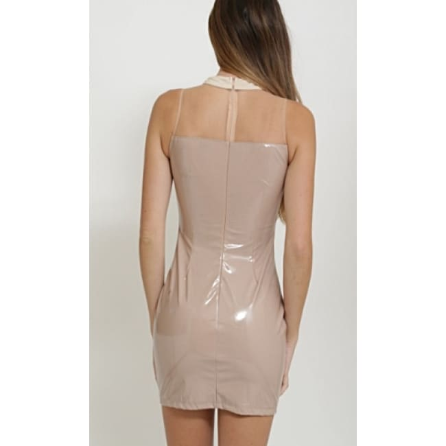 Ladies Latex Mini Dress - Dresses